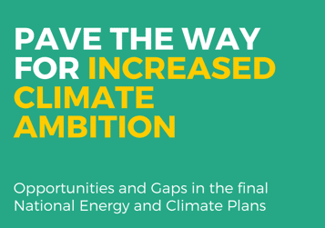 Pave the way for increased climate ambition